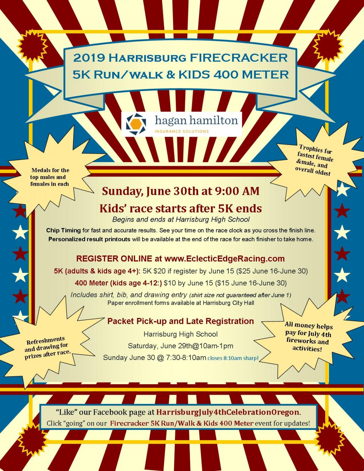4th of July Firecracker 5K Run/Walk Event - Sponsored by